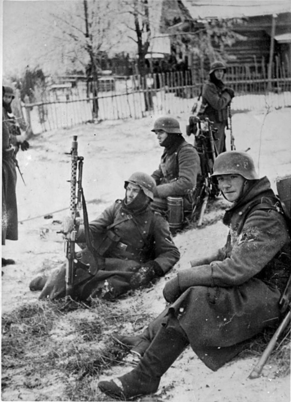 German soldiers during the Battle of Moscow, 1941