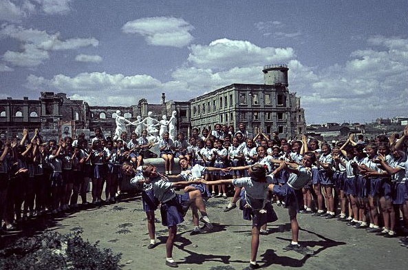 Youth in a Soviet athletic parade