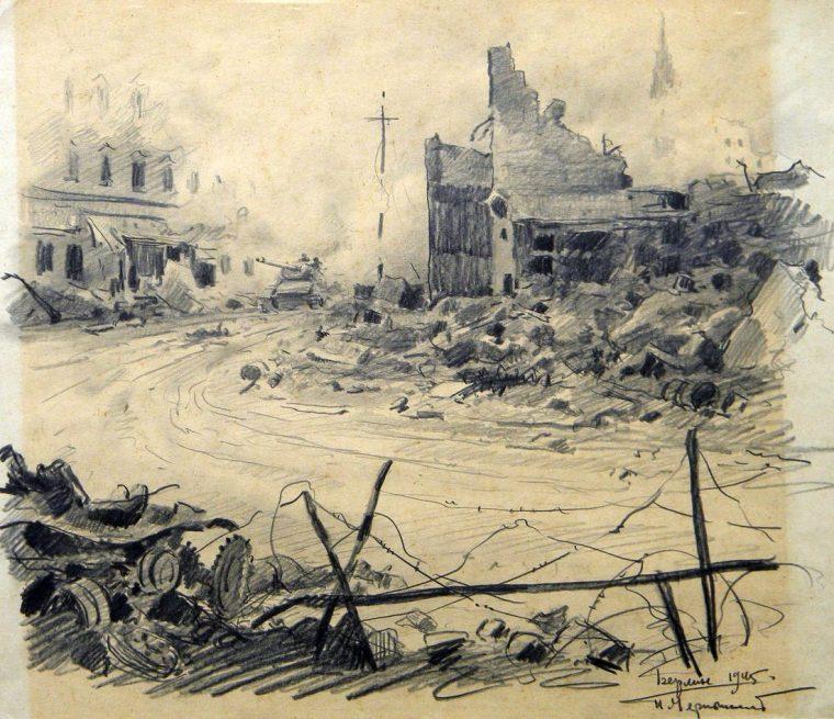 Берлин. 1945. Худ. П.А.Чернышевский