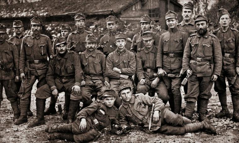 Солдаты австро-венгерского ландвера, 1916 год