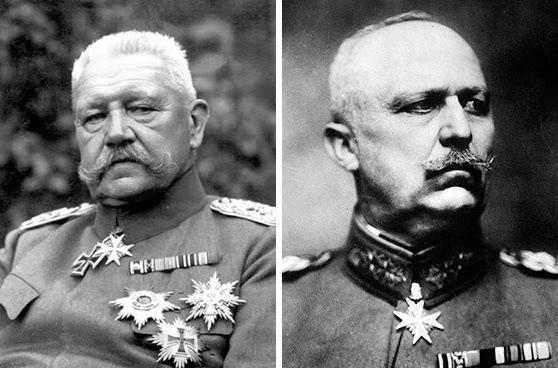 Пауль фон Гинденбург  Эрих Людендорф