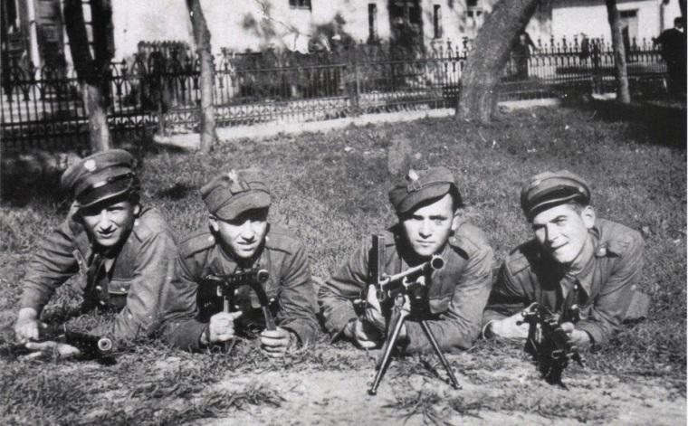 Бойцы Войска Польского, Закерзонье, 1945 год