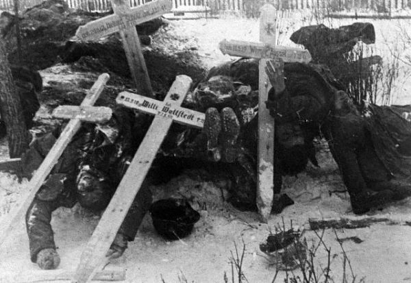 Dead German Bodies Stacked In The Cold